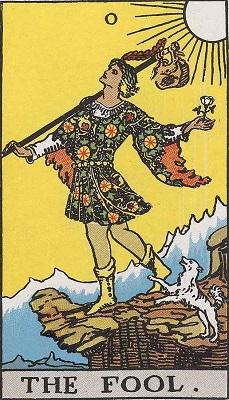 「愚者」のカードのお話に戻りますが、正位置の意味は上記のように「自由」とか「未知」、「可能性」などです。