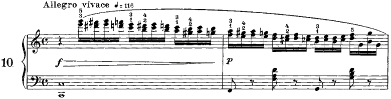 ツェルニー50番練習曲ピアノ楽譜1