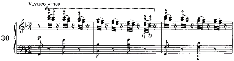 ツェルニー50番練習曲ピアノ楽譜4