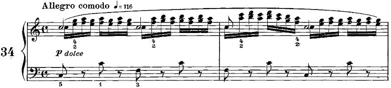 ツェルニー50番練習曲ピアノ楽譜5