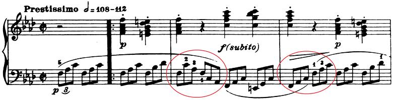 ベートーヴェン「ピアノソナタ第1番ヘ短調Op.2-1第4楽章」ピアノ楽譜1