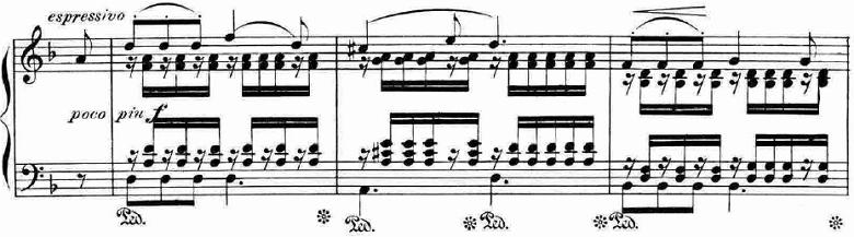 ランゲ「「花の歌」ヘ長調Op.39」ピアノ楽譜2
