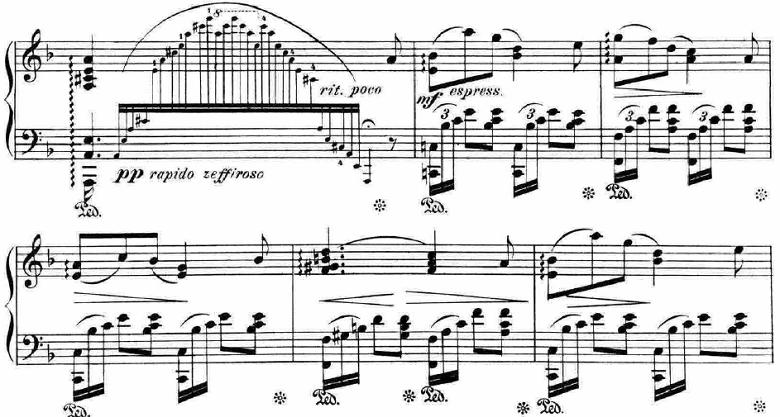 ランゲ「「花の歌」ヘ長調Op.39」ピアノ楽譜3