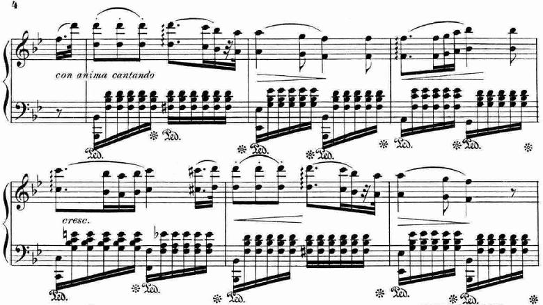 ランゲ「「花の歌」ヘ長調Op.39」ピアノ楽譜4