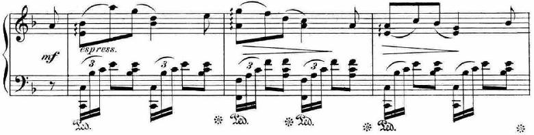 ランゲ「「花の歌」ヘ長調Op.39」ピアノ楽譜6