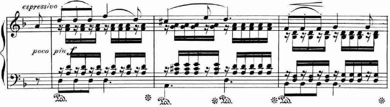 ランゲ「「花の歌」ヘ長調Op.39」ピアノ楽譜9
