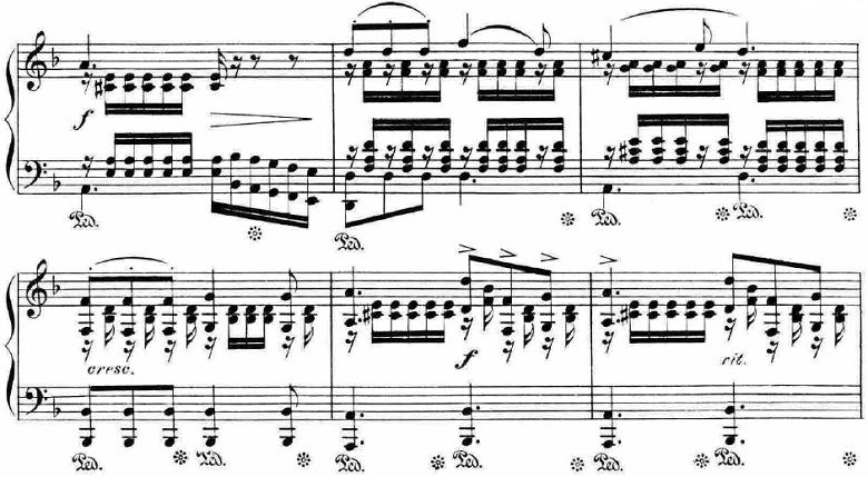 ランゲ「「花の歌」ヘ長調Op.39」ピアノ楽譜10