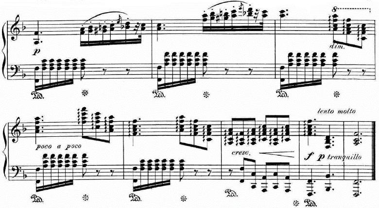 ランゲ「「花の歌」ヘ長調Op.39」ピアノ楽譜12