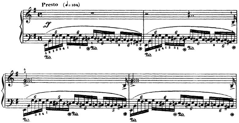 ラフマニノフ 楽興の時Op.16 第4番ピアノ楽譜