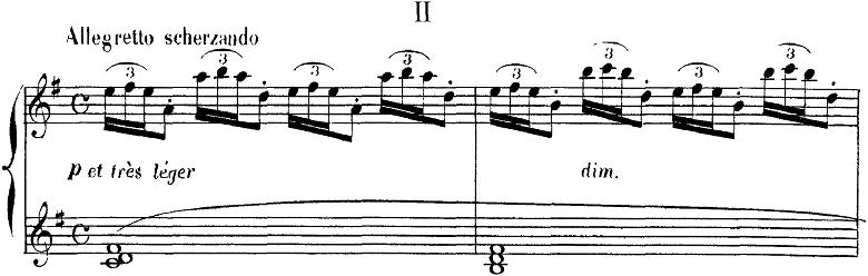 ドビュッシー「2つのアラベスクL.66第2番ト長調」ピアノ楽譜1