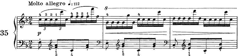 ツェルニー50番ピアノ楽譜1
