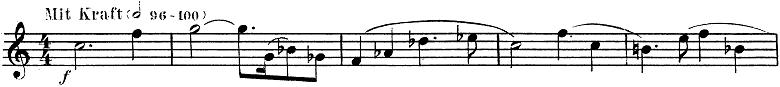 「トランペットとピアノのためのソナタ変ロ調」楽譜1