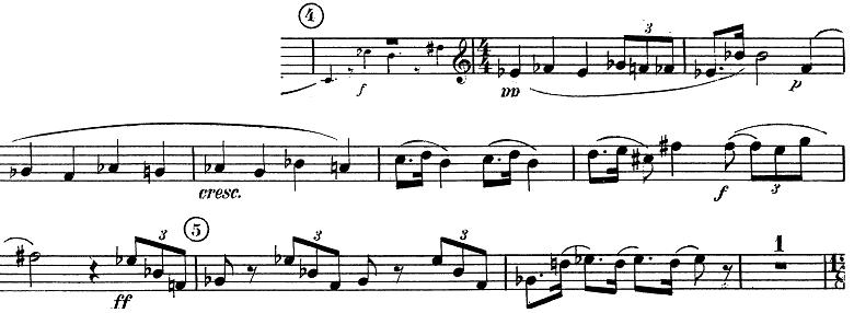 「トランペットとピアノのためのソナタ変ロ調」楽譜2