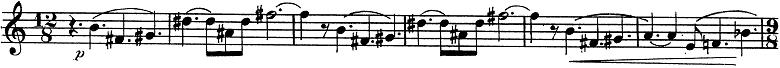 「トランペットとピアノのためのソナタ変ロ調」楽譜3