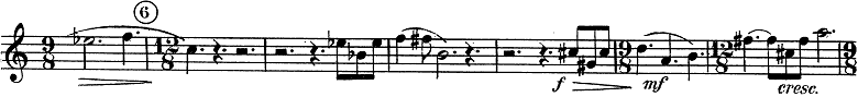 「トランペットとピアノのためのソナタ変ロ調」楽譜4