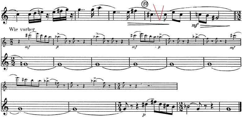 「トランペットとピアノのためのソナタ変ロ調」楽譜8