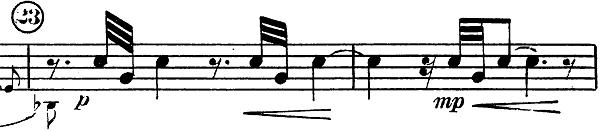 「トランペットとピアノのためのソナタ変ロ調」楽譜9