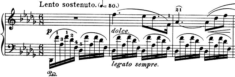ショパン「ノクターン第8番変ニ長調Op.27-2」ピアノ楽譜1