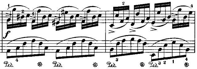 ショパン「即興曲第4番「幻想即興曲」嬰ハ短調Op.66」ピアノ楽譜3