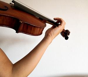 バイオリン、腕のビブラート練習1