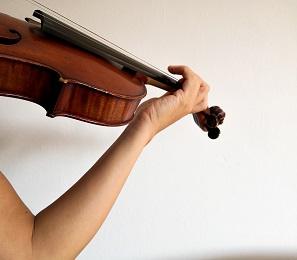 バイオリン、腕のビブラート練習2