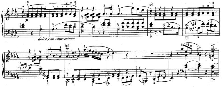ウェーバー「「舞踏への勧誘」変ニ長調Op.65」ピアノ楽譜2