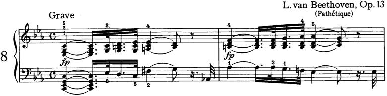 ベートーベン「ピアノソナタ第8番「悲愴」第1楽章」ピアノ楽譜1
