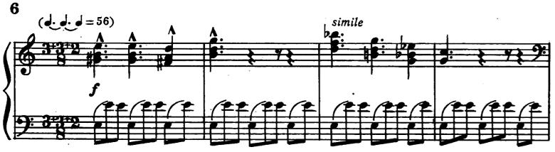 バルトーク「ミクロコスモス 第6巻より153.ブルガリアのリズムによる6つの舞曲 第6曲」ピアノ楽譜