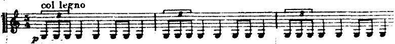 ホルスト『惑星』より「火星」弦楽器のコルレーニョの楽譜