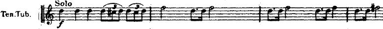 ホルスト『惑星』より「火星」テノールチューバソロの楽譜