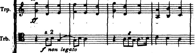 ホルスト『惑星』より「木星」トランペットとトロンボーンの楽譜