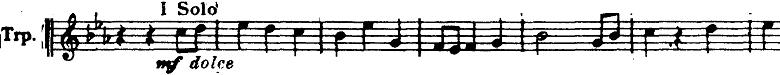 ホルスト『惑星』より「木星」トランペットソロ楽譜