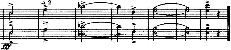ホルスト『惑星』より「木星」最後のオーケストラヒットの楽譜