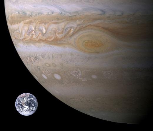 木星と地球