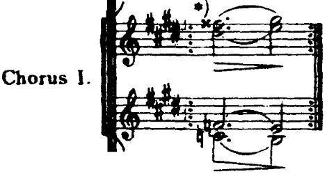 ホルスト『惑星』より「海王星」最後のフェイドアウトの楽譜