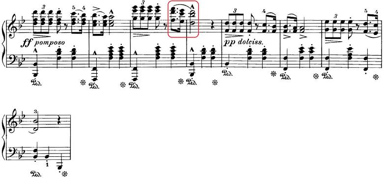 エステン「「アルプスの夕映え」変ロ長調Op.193」ピアノ楽譜3