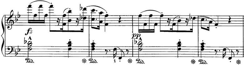 エステン「「アルプスの夕映え」変ロ長調Op.193」ピアノ楽譜5