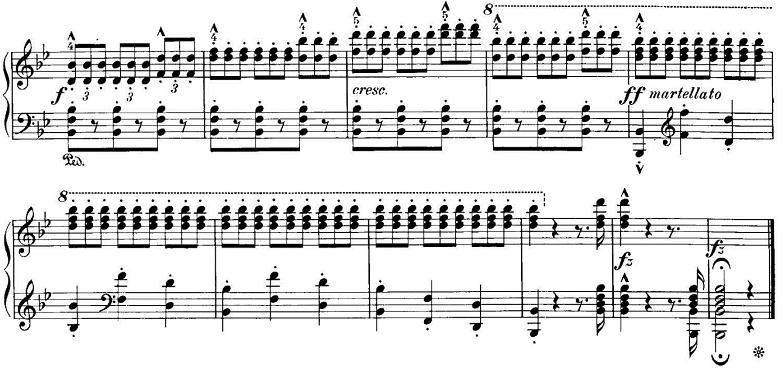 エステン「「アルプスの夕映え」変ロ長調Op.193」ピアノ楽譜10