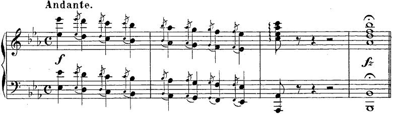 バダジェフスカ「「乙女の祈り」変ホ長調Op.4」ピアノ楽譜1