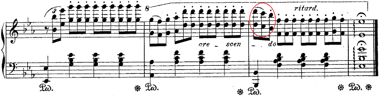 バダジェフスカ「「乙女の祈り」変ホ長調Op.4」ピアノ楽譜9