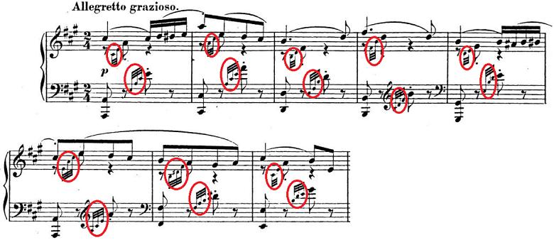メンデルスゾーン「「春の歌」Op.62-6」ピアノ楽譜1