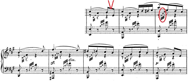 メンデルスゾーン「「春の歌」Op.62-6」ピアノ楽譜2
