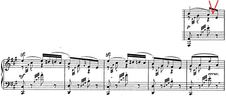 メンデルスゾーン「「春の歌」Op.62-6」ピアノ楽譜3