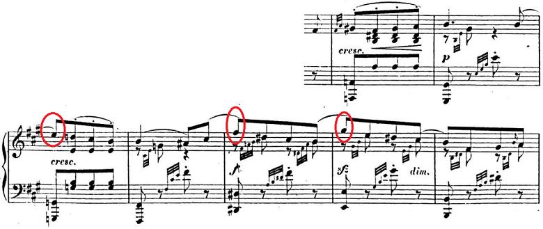 メンデルスゾーン「「春の歌」Op.62-6」ピアノ楽譜4