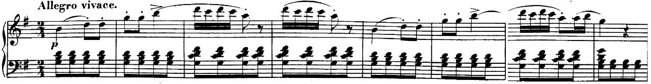 ベートーヴェン「「ロンド・ア・カプリッチョ(失われた小銭への怒り)」ト長調Op.129」ピアノ楽譜1