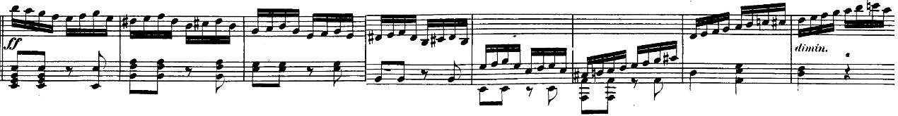 ベートーヴェン「「ロンド・ア・カプリッチョ(失われた小銭への怒り)」ト長調Op.129」ピアノ楽譜4