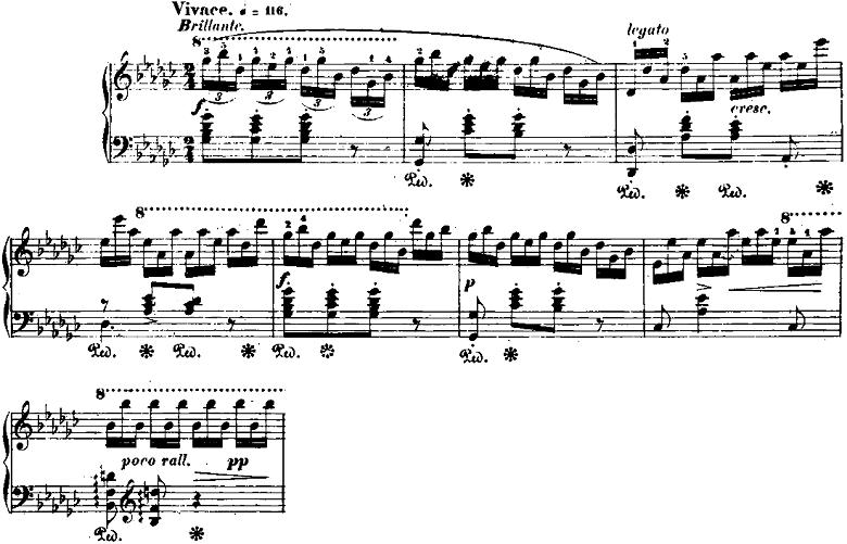 ショパン「「黒鍵のエチュード」Op.10-5変ト長調」ピアノ楽譜1