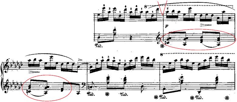 ショパン「「黒鍵のエチュード」Op.10-5変ト長調」ピアノ楽譜2