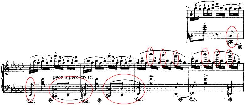 ショパン「「黒鍵のエチュード」Op.10-5変ト長調」ピアノ楽譜4