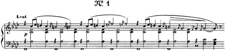 サティ「グノシエンヌ第1番」ピアノ楽譜1